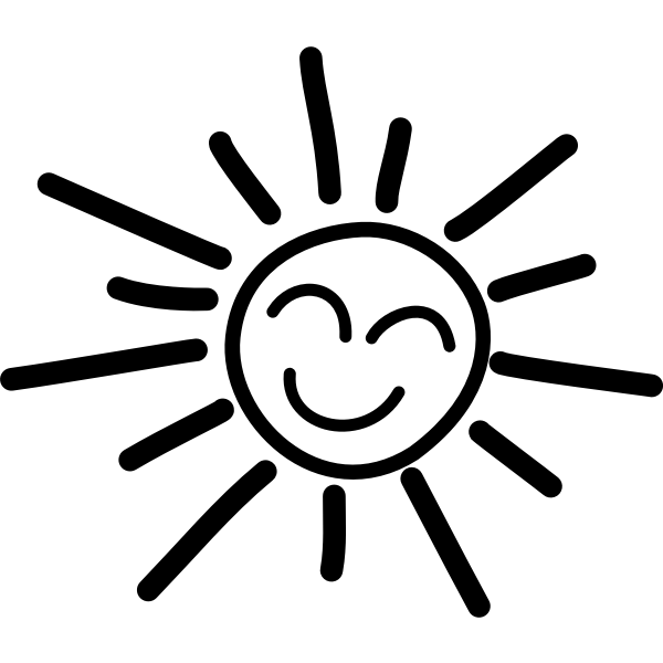 Happy sun vector graphics