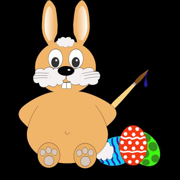 Comic bunny vector drawing