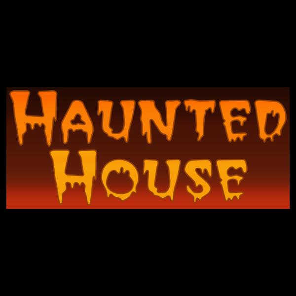 ''Haunted house'' typography