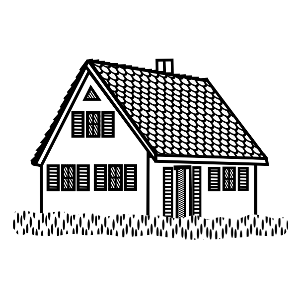 House lineart vector illustration