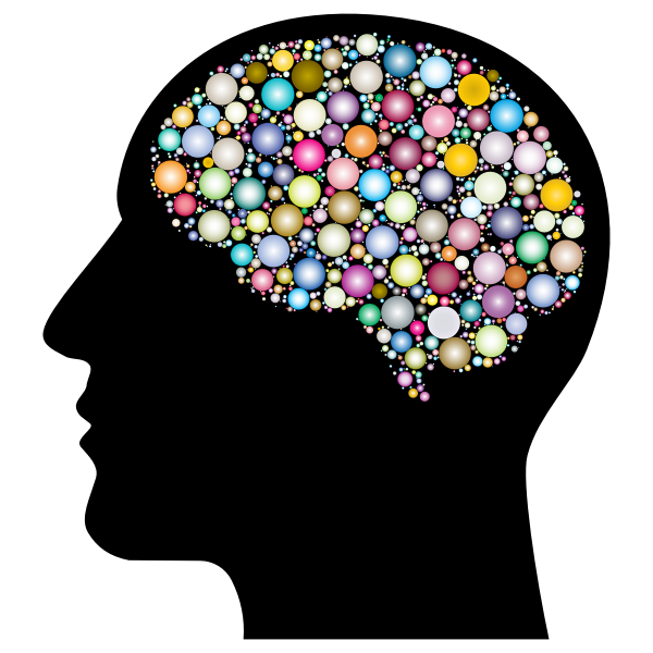 Head With Brain Circles