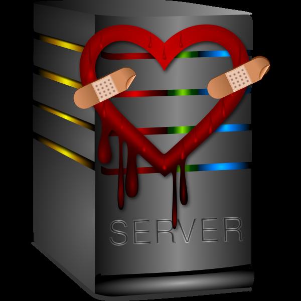 Vector graphics of heartbleed server