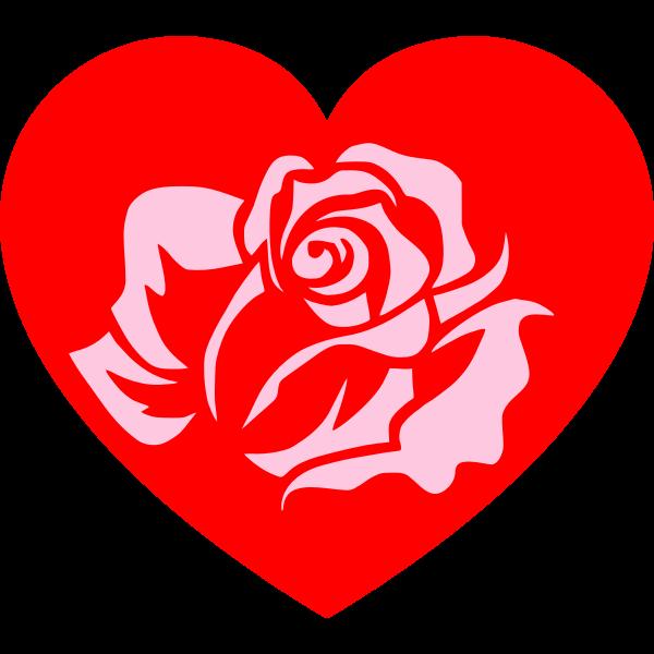 Heart Rose Pink