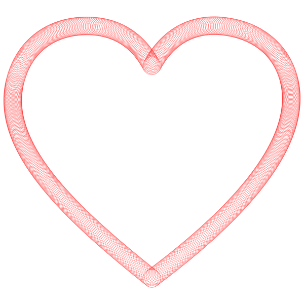 Heart outline red lines