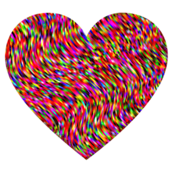 Heart Waves Psychedelic