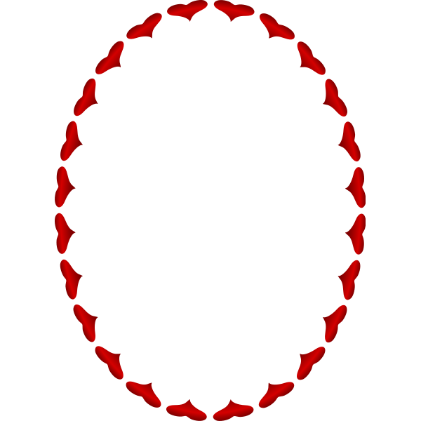 Heart Frame Red Color