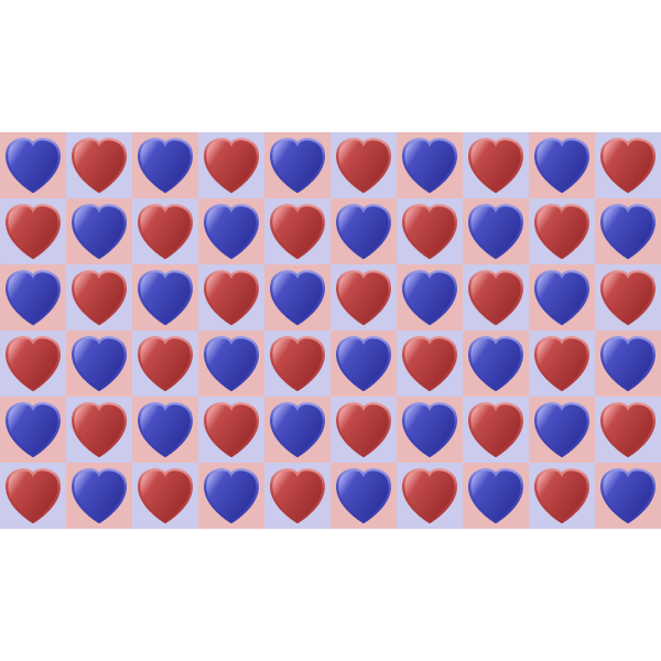 Heart pattern in color