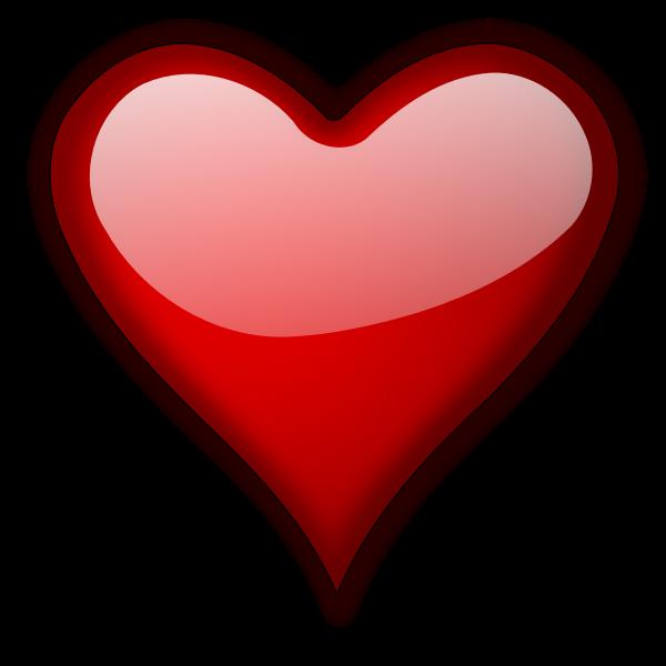 Glossy heart vector illustration