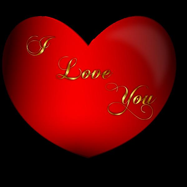 Heart I Love You Vector
