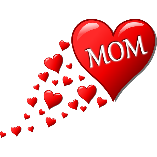 Hearts for Mom vector illustration
