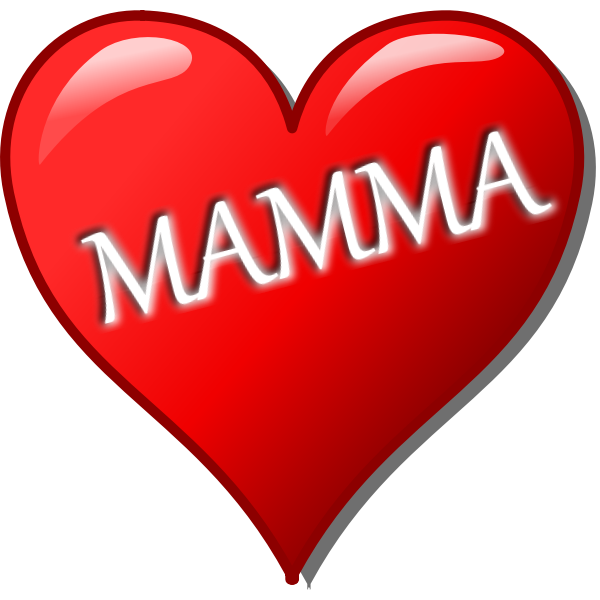 Mother's day heart Italian vector image