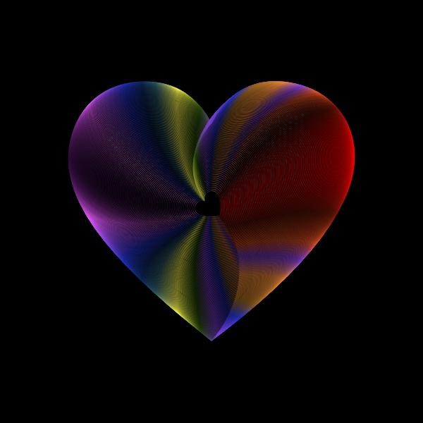 Hearts In Heart Line Art Enhanced