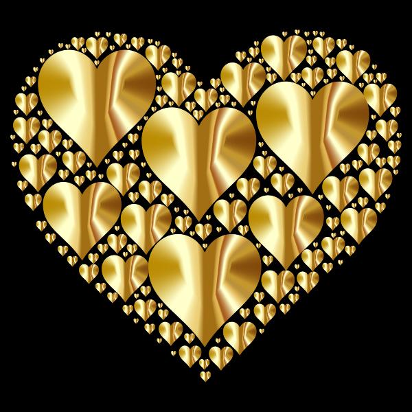 Golden hearts