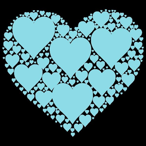 Hearts In Heart blue