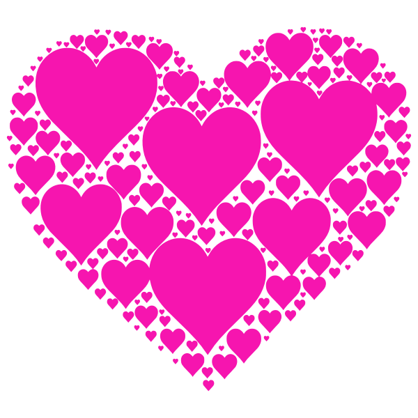Hearts In Heart magenta