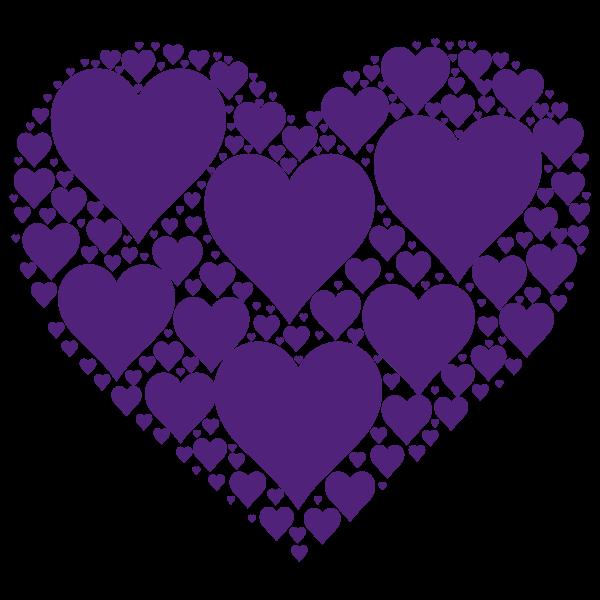Hearts In Heart purple
