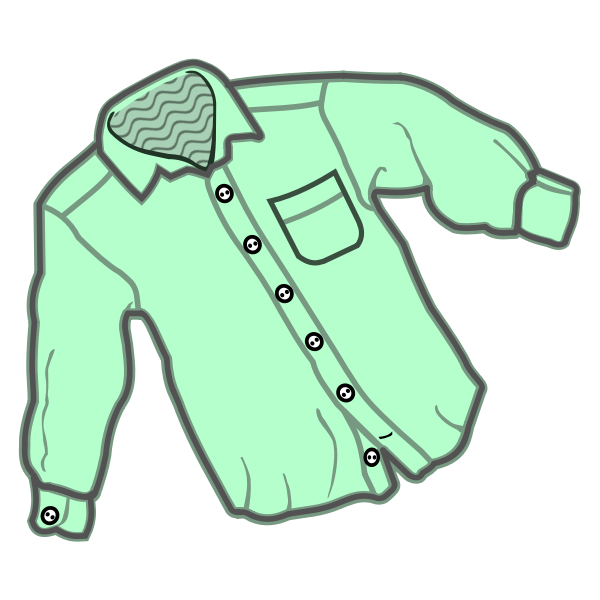 Vector line art drawing of a simple shirt