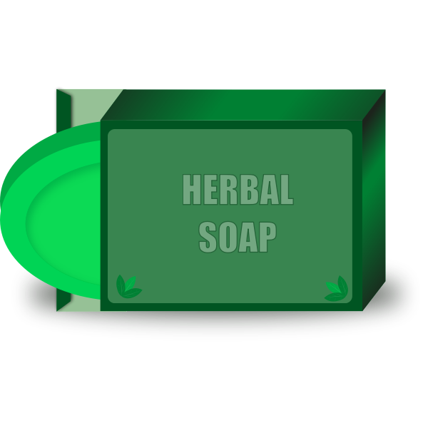 Vector illustration of herbal beauty soap