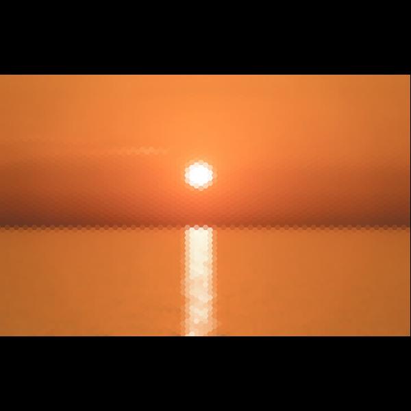 Hexagonal Sunrise Mosaic