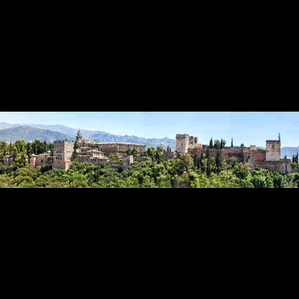 High Poly Alhambra Panorama