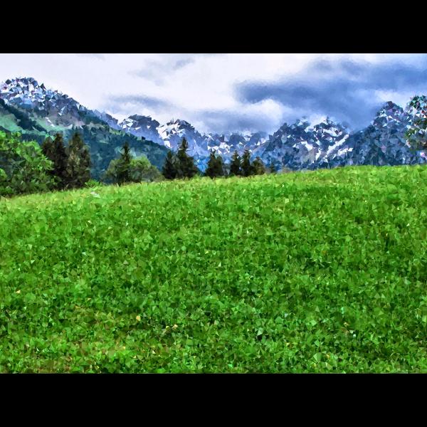 High Poly Alpine Meadow