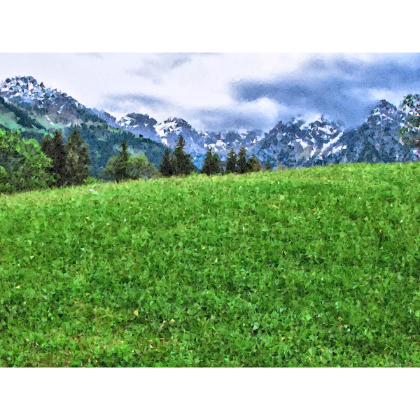High Poly Alpine Meadow