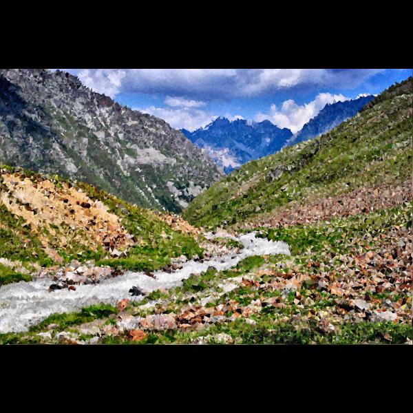 High Poly Austrian Alps