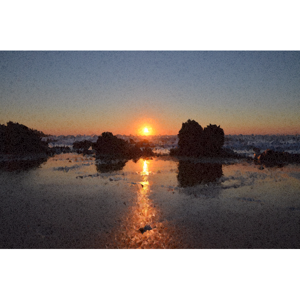 High Poly Beach Sunset
