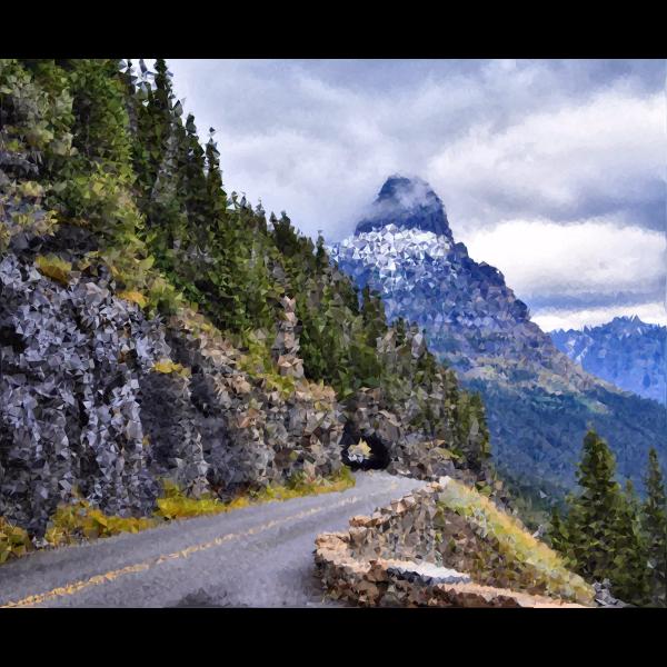 High Poly Glacier National Park