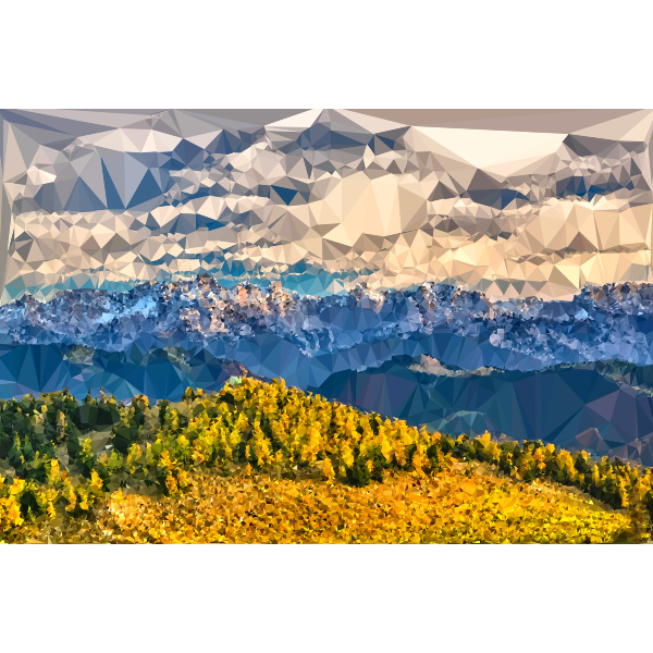 High Poly Mountain Range 2