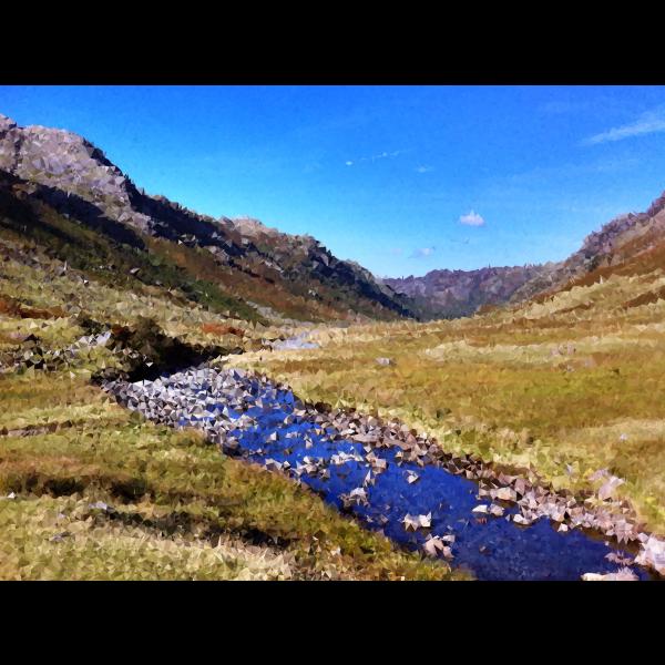High Poly Mountain Stream