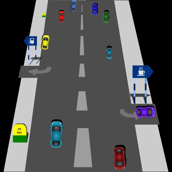 Motorway traffic vector image