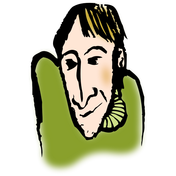 Cartoon portrait of a man