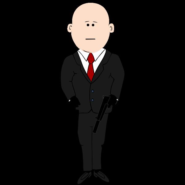 Assassin in business suit