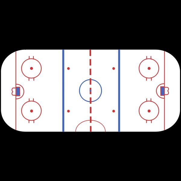 Hockey Rink Vector Clip Art