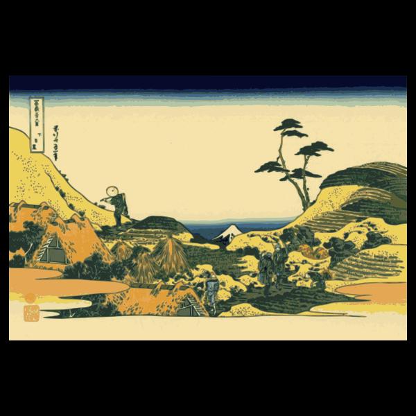 Vector clip art of of lower Meguro