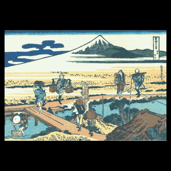 Nakahara in Sagami Province vector image