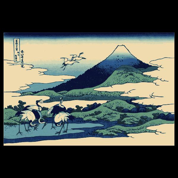 Umezawa March in Segami Province color clip art