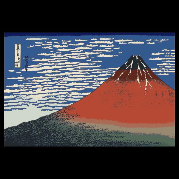 Red Fuji vector image