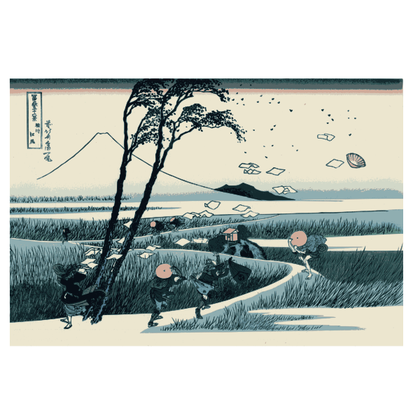 Ejiri in Suruga Province vector drawing