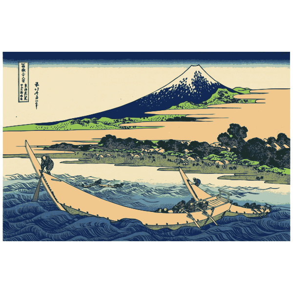 Shore of Tago Bay vector drawing