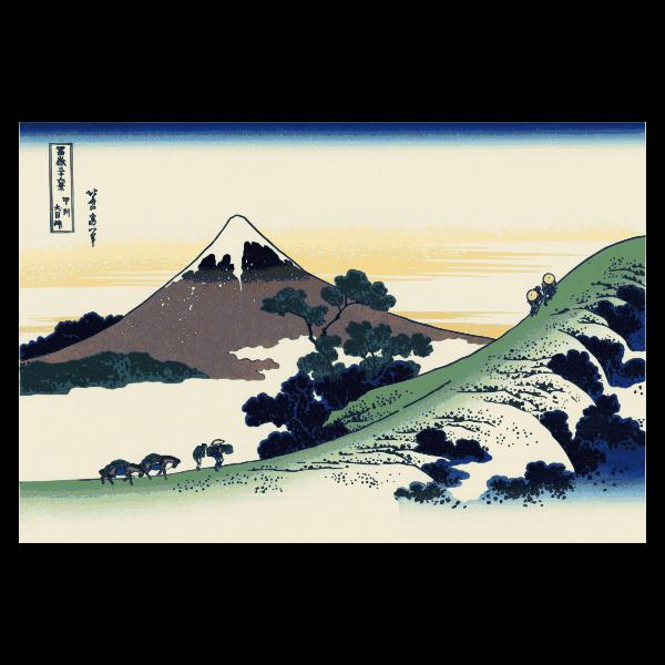 Vector image of Fuji mountain