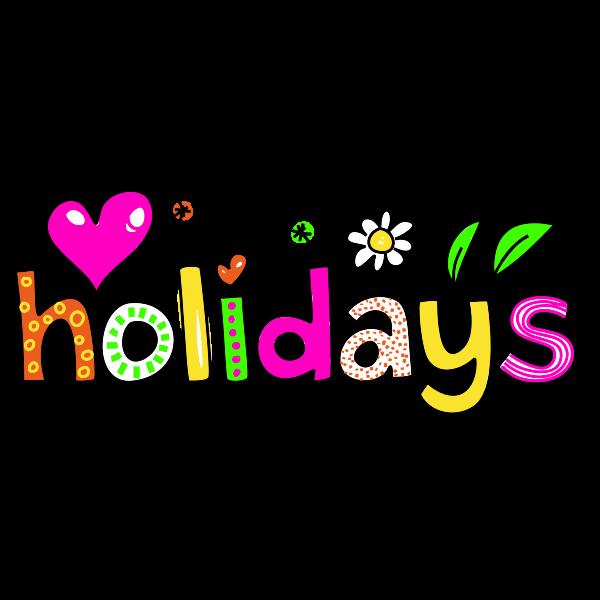 Holidays typography