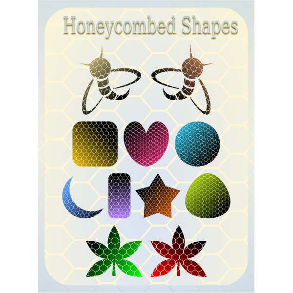 Selection of vector honeycombed shapes