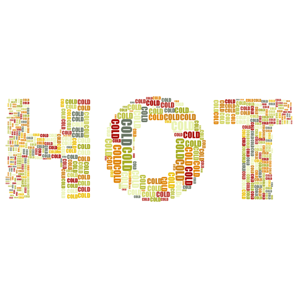 Hot And Cold Typography No Background