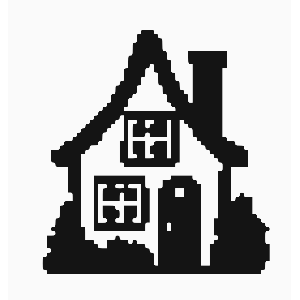 House with pixels