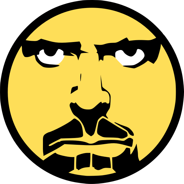 Angry man vector illustration