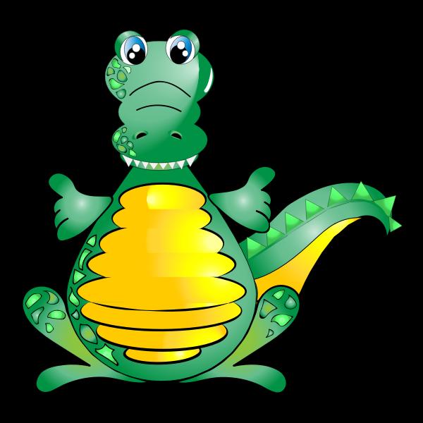 Crocodile asking for a hug