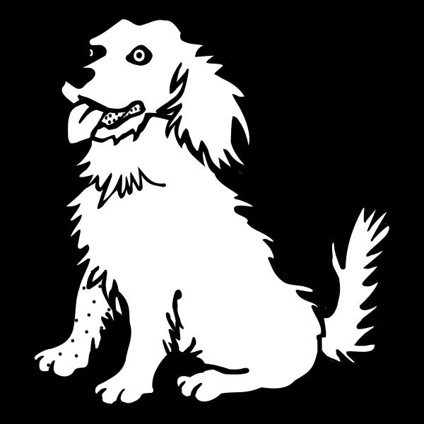 Dog line art vector illustration