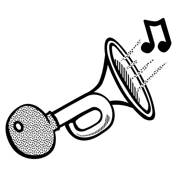 Bicycle horn line art vector image